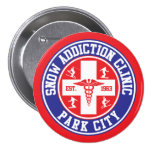 Park City Snow Addiction Clinic 3 Inch Round Button