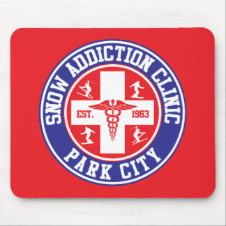 Park City Snow Addiction Clinic Mouse Pad