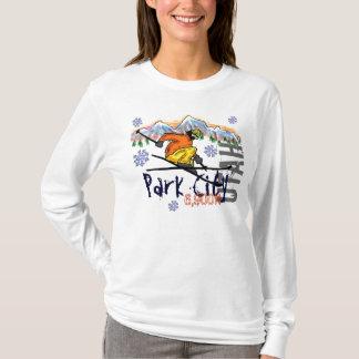 Park City Utah ladies ski elevation hoodie