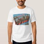 Park City, Utah - Large Letter Scenes T Shirts