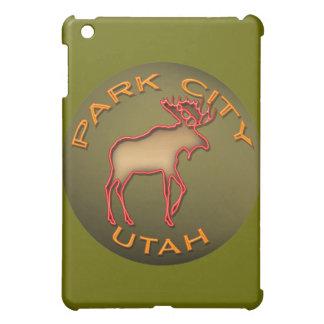 Park City Utah Neon Moose Design iPad Case