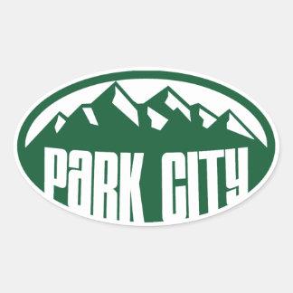 Park City Utah Pegatina Ovalada