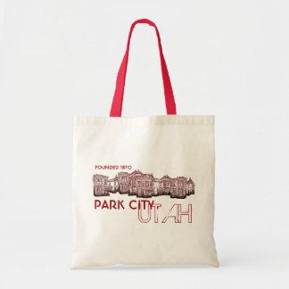 Park City Utah red theme old buildings bag