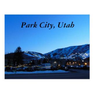 Park City Utah Skiing Postcard