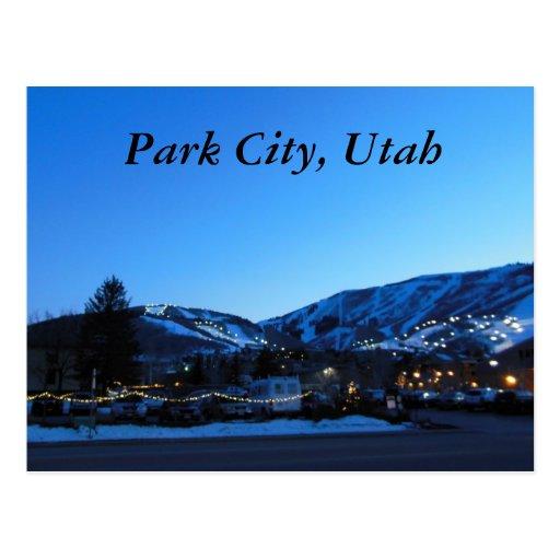Park City Utah Skiing Postcard Zazzle