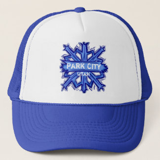 Park City Utah winter snowflake hat
