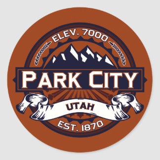 Park City Vibrant Classic Round Sticker