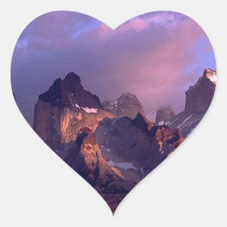 Park Cuernos Del Paine los Andes Ains Chile Pegatina En Forma De Corazón