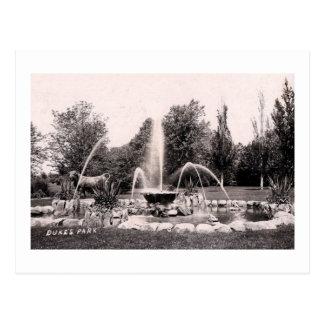 Park de duque, Somerville, vintage 1907 de NJ Postal