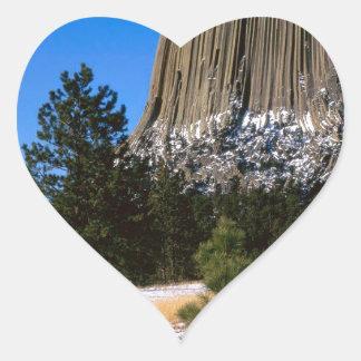 Park Devils Tower Monument Wyoming Heart Sticker