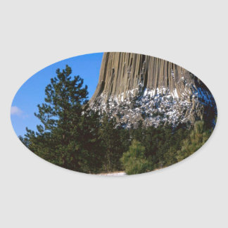 Park Devils Tower Monument Wyoming Oval Sticker