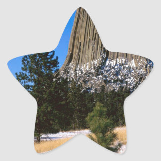 Park Devils Tower Monument Wyoming Star Sticker
