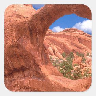 Park Double O Arch Arches Utah Square Sticker