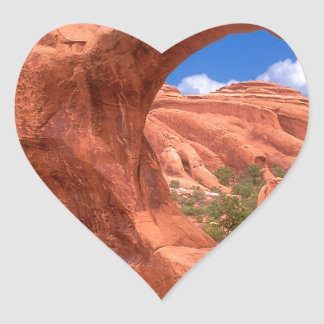 Park Double O Arch Arches Utah Heart Sticker