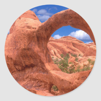 Park Double O Arch Arches Utah Classic Round Sticker