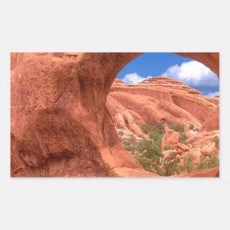 Park Double O Arch Arches Utah Rectangular Sticker
