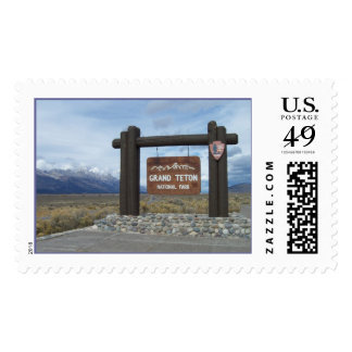 Park Entrance to Grand Teton Postage