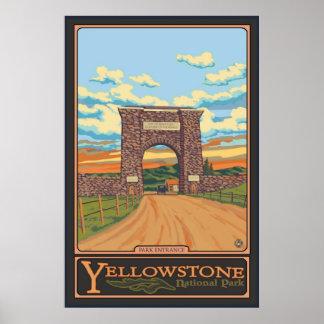 Park Entrance - Yellowstone Nat'l Park Poster