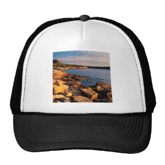 Park First Light Near Otteracadia Maine Mesh Hats