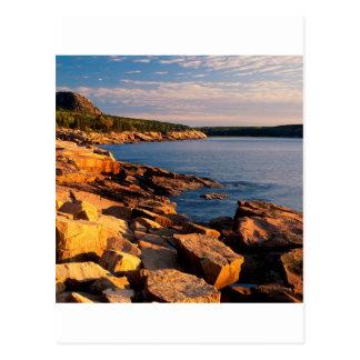 Park First Light Near Otteracadia Maine Postcard