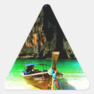 Park for future success  beach cliff boat colored triangle sticker