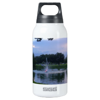 Park Fountain at Sunset Insulated Water Bottle