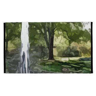 park fountain painting iPad cases