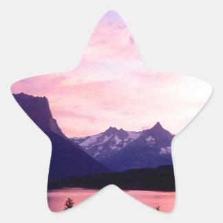 Park Glacier At Sunset Montana Stickers