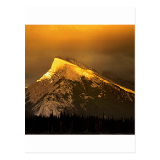 Park Golden Peaks Of Rundle Ain Banff Alberta Postcard