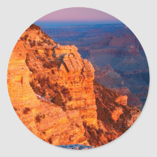 Park Grand Canyon At Sunrise Mather Point Classic Round Sticker