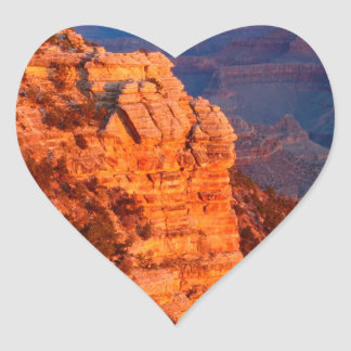 Park Grand Canyon At Sunrise Mather Point Heart Sticker