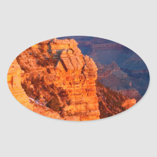 Park Grand Canyon At Sunrise Mather Point Oval Sticker