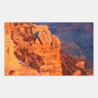 Park Grand Canyon At Sunrise Mather Point Rectangular Sticker