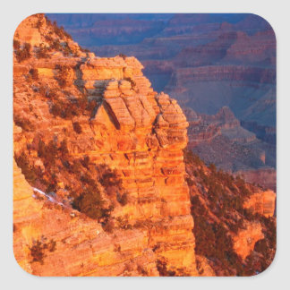 Park Grand Canyon At Sunrise Mather Point Square Sticker