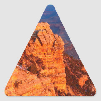 Park Grand Canyon At Sunrise Mather Point Triangle Sticker