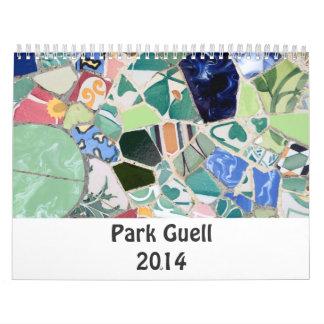Park Guell 2014 Calendar
