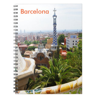 Park Guell in Barcelona, Spain Notebook