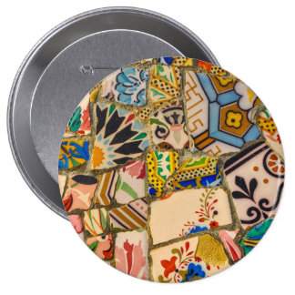 Park Guell in Barcelona Spain Pinback Button