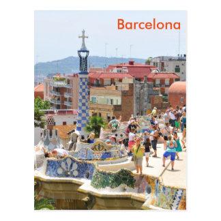 Park Guell in Barcelona, Spain Postcard