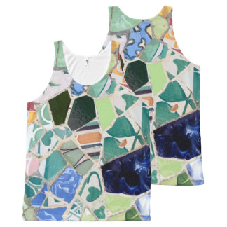 Park Guell mosaics All-Over-Print Tank Top