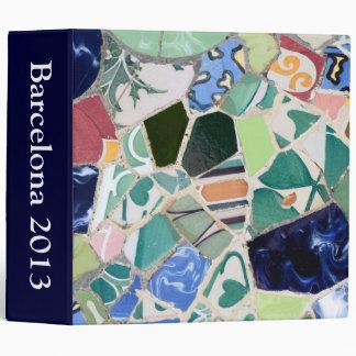 Park Guell mosaics Binder