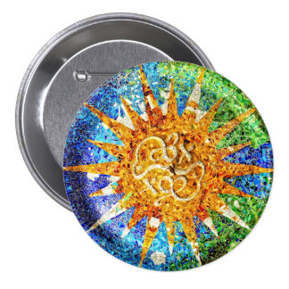 Park Guell mosaics 3 Inch Round Button