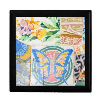 Park Guell mosaics giftbox Trinket Box