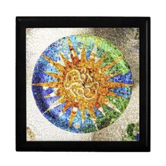Park Guell mosaics giftbox Jewelry Box
