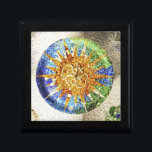"""Park Guell mosaics giftbox Jewelry Box<br><div class=""""desc"""">Park G&#252;ell in Barcelona,  Spain. The best known example of Antoni Gaud&#237; architecture. Color photograph.</div>"""