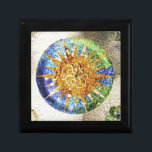 "Park Guell mosaics giftbox Jewelry Box<br><div class=""desc"">Park G&#252;ell in Barcelona,  Spain. The best known example of Antoni Gaud&#237; architecture. Color photograph.</div>"
