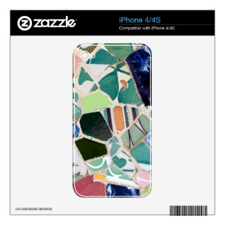 Park Guell mosaics iphone skin iPhone 4S Decals