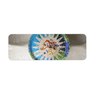 Park Guell mosaics label