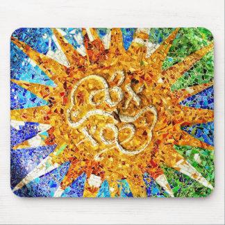 Park Guell mosaics Mousepad