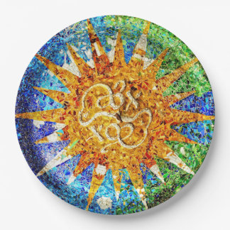 Park Guell mosaics Paper Plate
